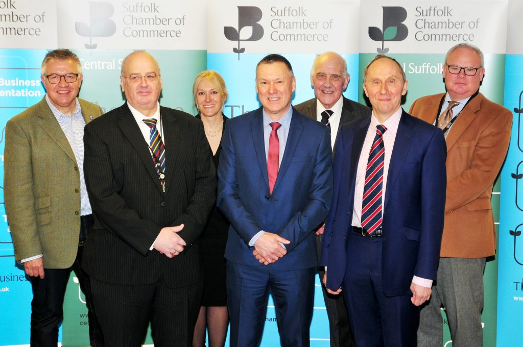 L2R: Stephen Britt. Cllr. Nick Gowrley, Catherine Johnson, Graham Abbey, Cllr. Gerard Brewster, Cllr John Waed, Cllr. Simon Barrett (Photo David Garrad)