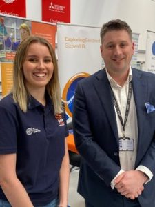 east-coast-college Sizewell apprentice Suzie Jones with East Coast College Principal Stuart Rimmer