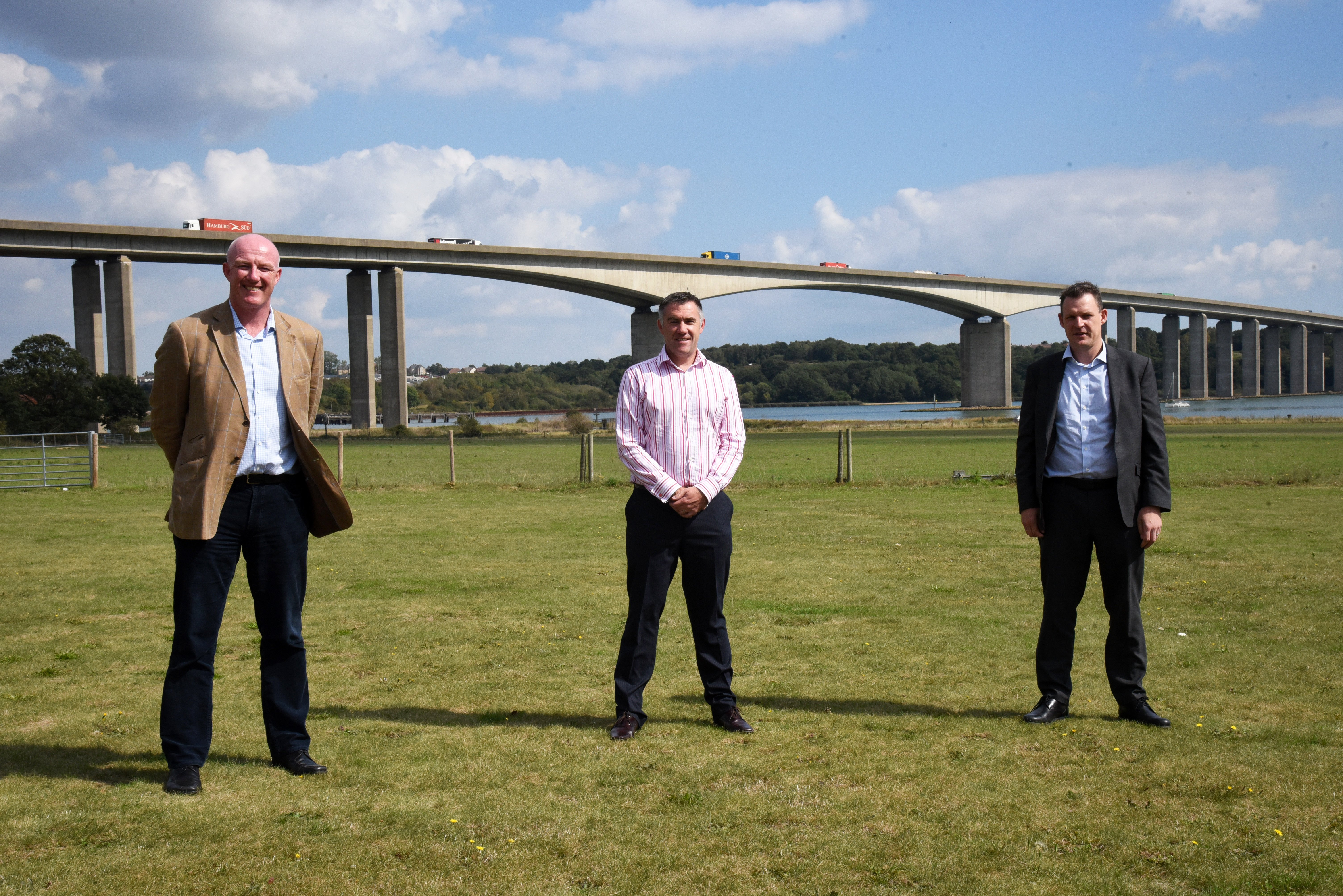 Graeme Bellingham, Steve Carroll and Gregg Brown from Sizewell C supply chain Picture: CHARLOTTE BOND