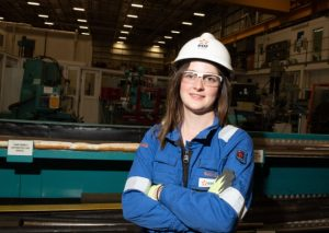 Beth Gant who started her career as an apprentice at Sizewell B