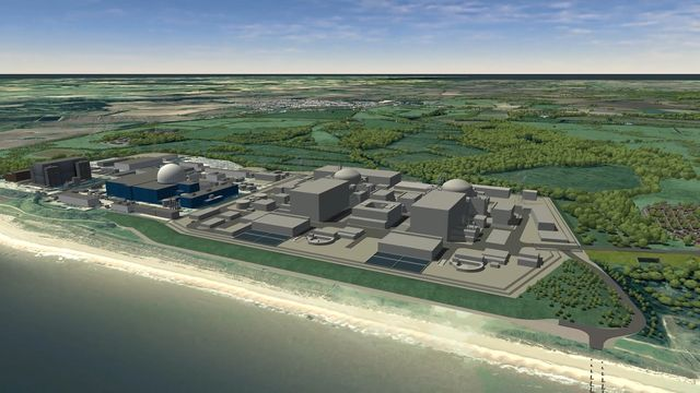 A computer generated image of the proposed new power station Sizewell C