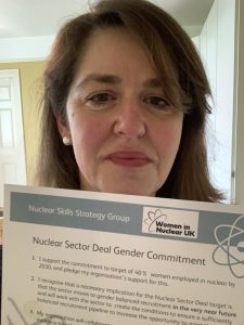 Julia Pyke, Sizewell C director and sponsor of the Sizewell C gender balance network with the Nuclear Sector Deal certificate